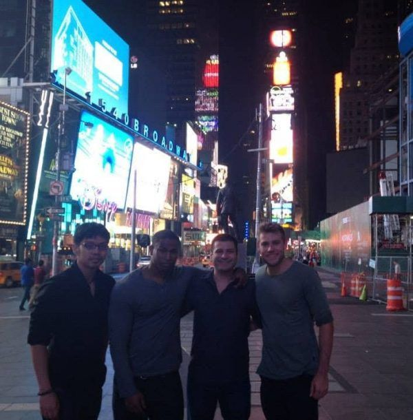 New friends and I in Times Square