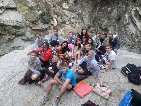The winter quarter international students and I at a waterhole in Chanty Flats