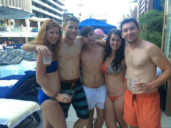Ismail, Audrey and I making new friends by the pool at the Cosmopolitan