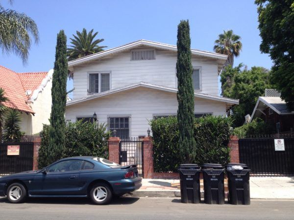 6829 De Longpre, the Share-House I lived in Hollywood