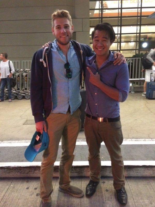 My last photo of the exchange with good friend, Joe