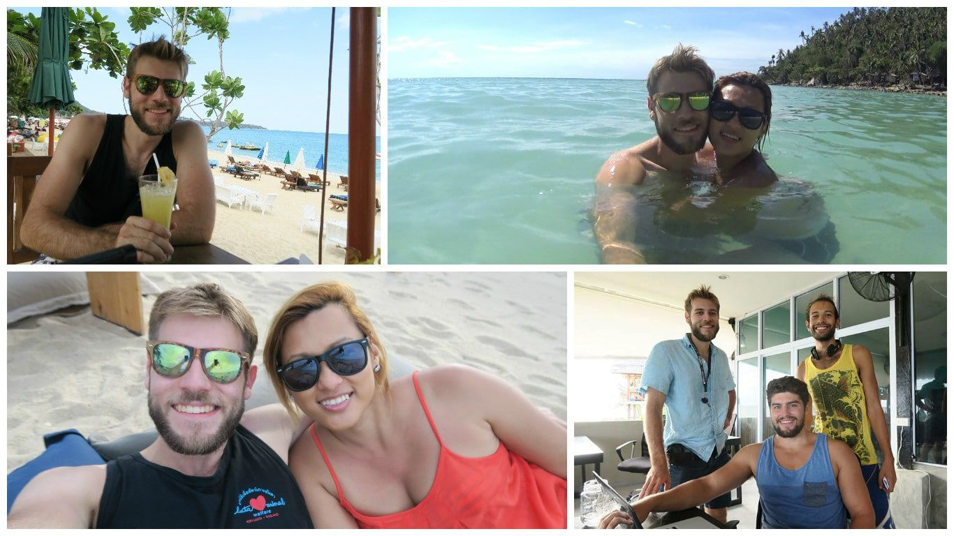Photos on the left are from Koh Samui, photos on the right are from Koh Phangan