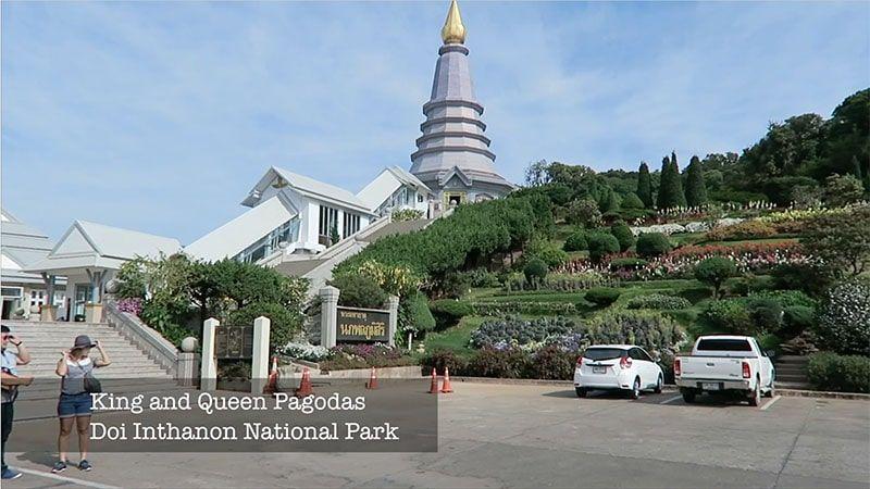 The Beautiful King Pagoda near the top of Doi Inthanon