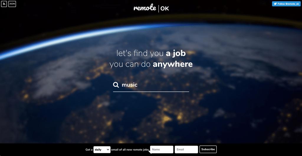 RemoteOK Remote Work Job Board