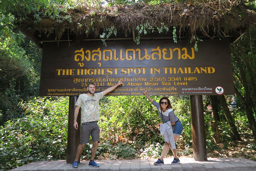 the Highest Point in Thailand sign